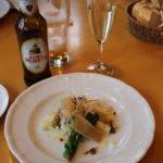 食前酒と春野菜の前菜