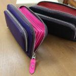 お財布の内側は鮮やかな色で