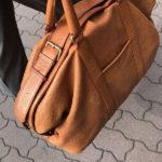 数十年前につくったバッファロー革のボストンバッグ